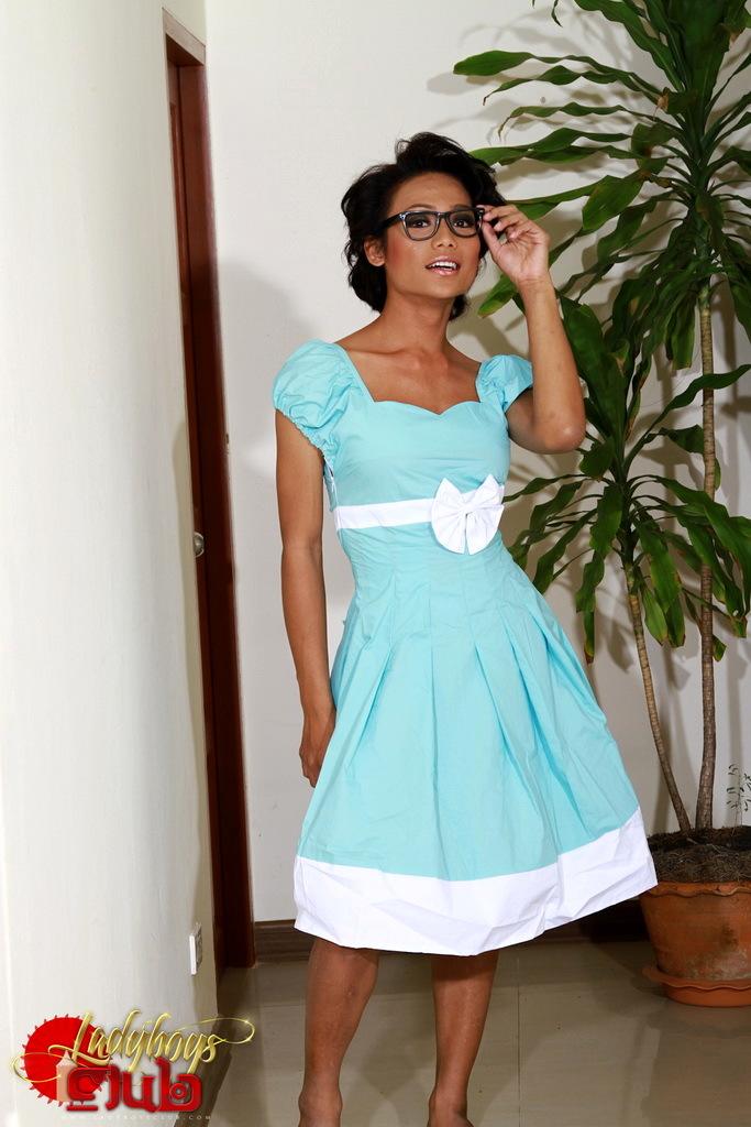 Sonya In Blue Skirt