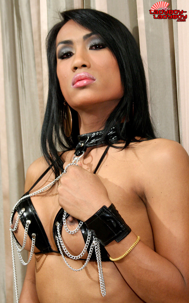 T-Girl Ami Chained Her Penis
