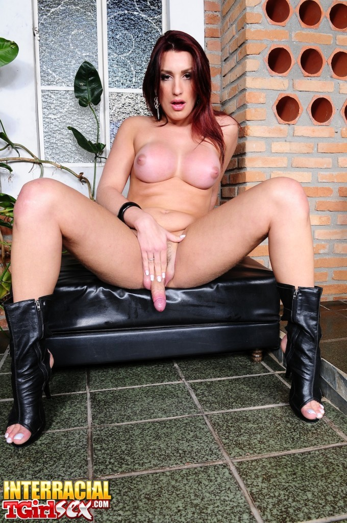 T-Girl Joy Spears Needs Big Black Dick Up Her Asshole