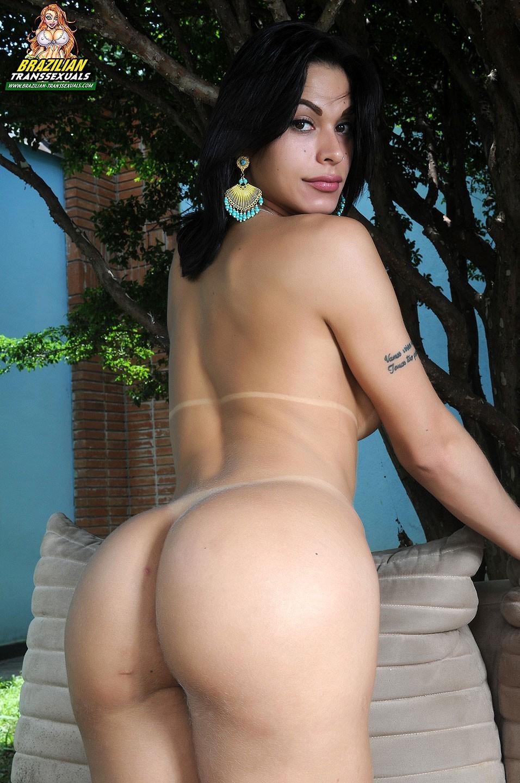 T-Girl Mariana De Castro In Blue Swimsuit