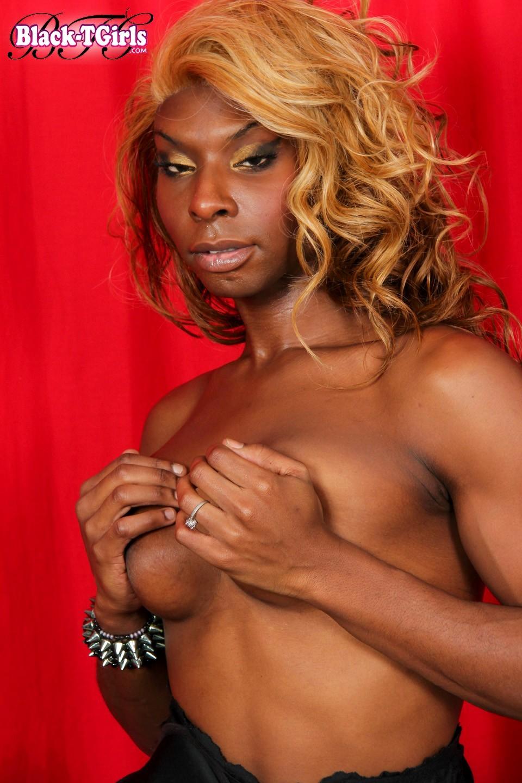T-Girl Pretty Melodi Posing In Beautiful Black Panties