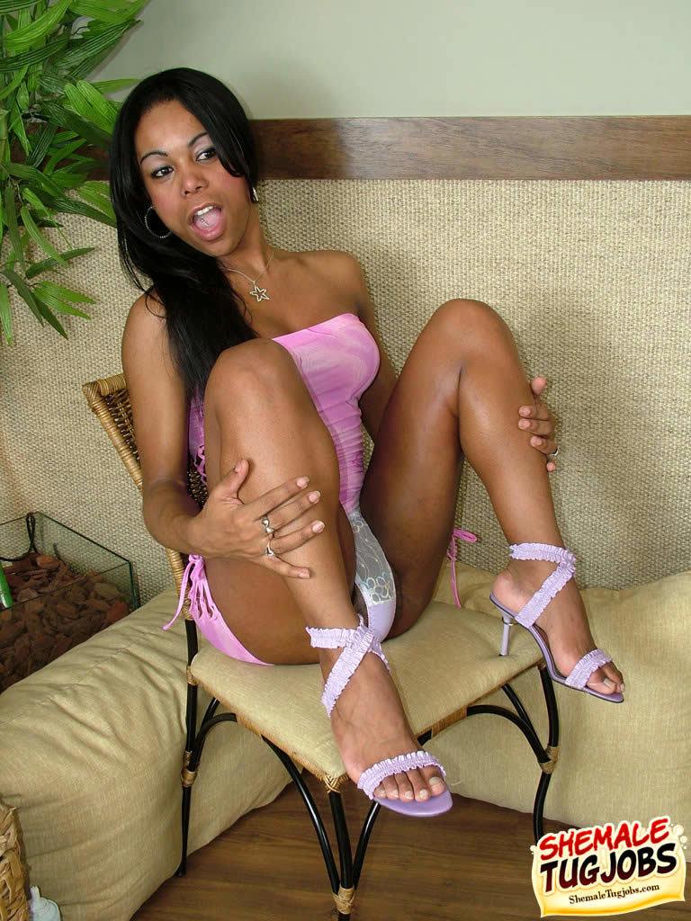 T-Girl Priscila Gaucha Playing With Whipped Cream
