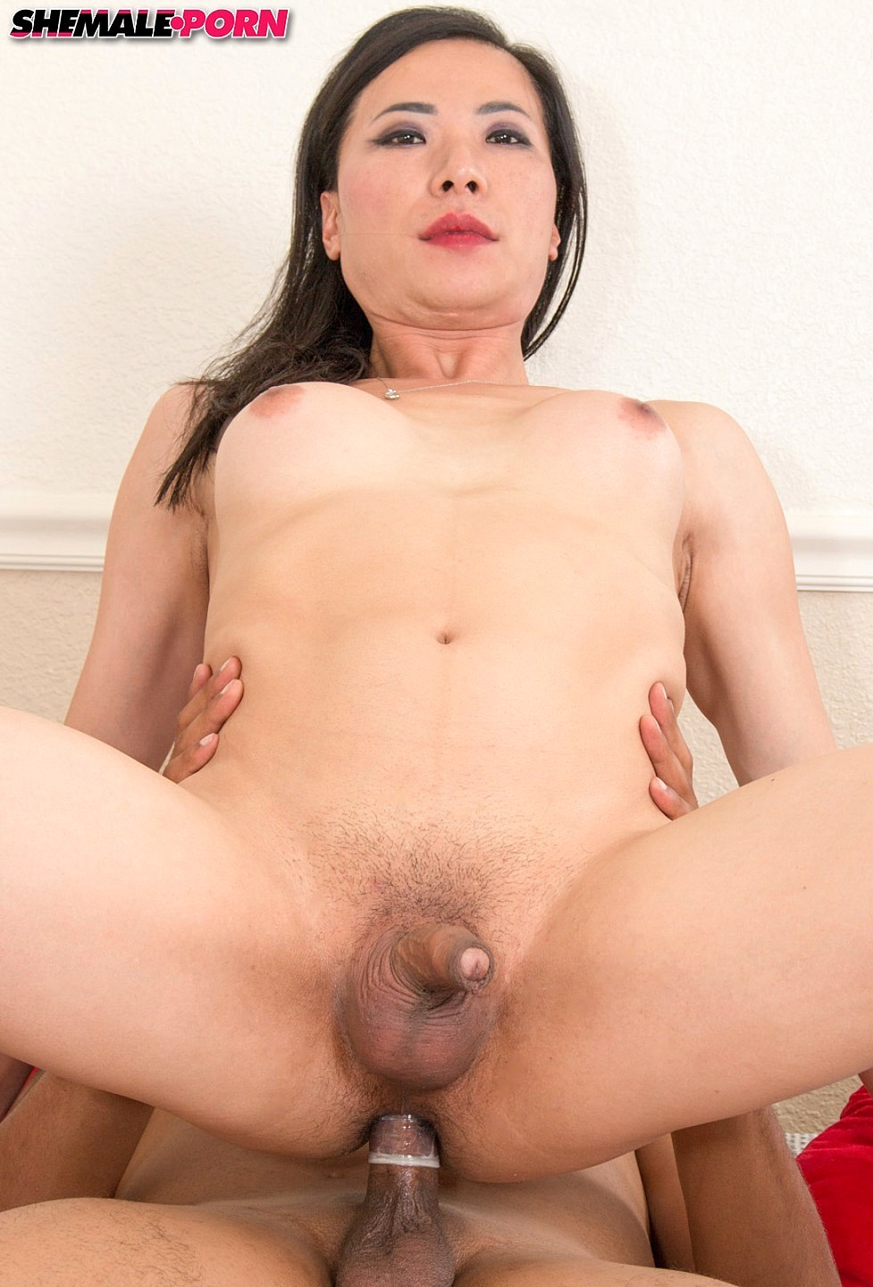 tall tranny sucks tool on her knees