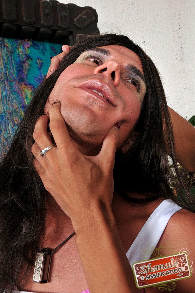 TGirl Avilla Scherzinger Forces Feminization On Her Guy