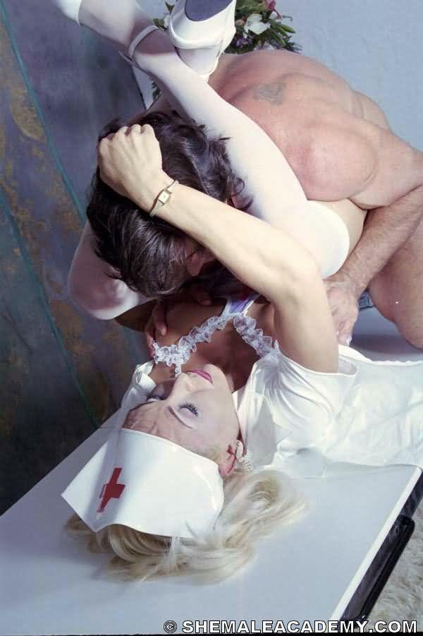 Tonya Nursing On Her Long T-Girl Schlong