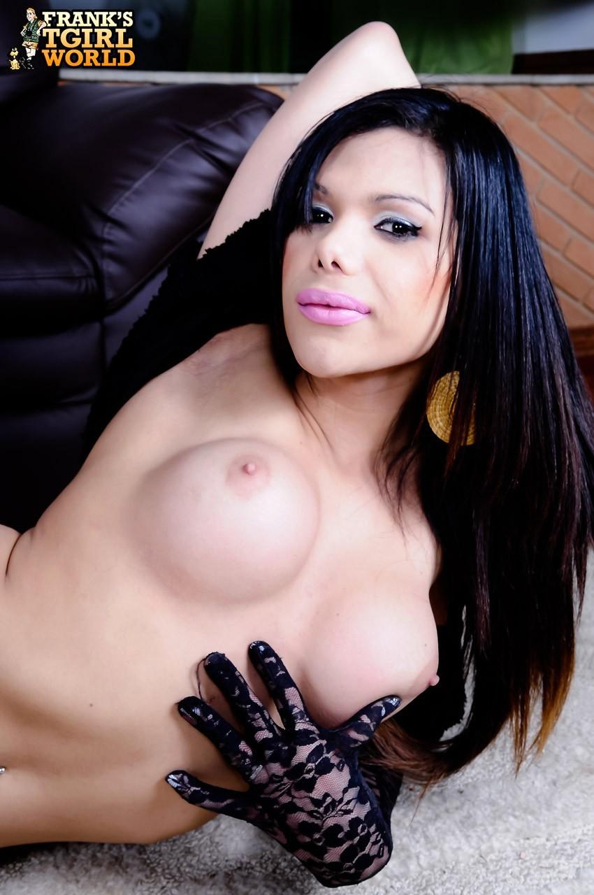 Tranny Marina Almeida Posing In Black