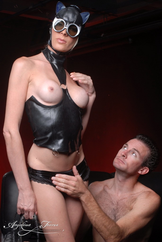 ts catwoman angelina bangs a man