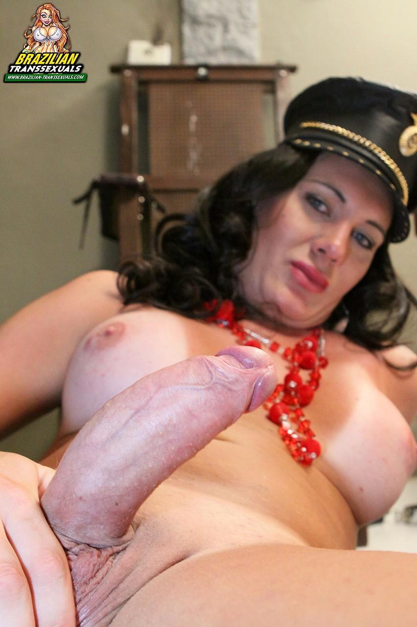 TS Porn Star Bia Gaucha Steamy Officer