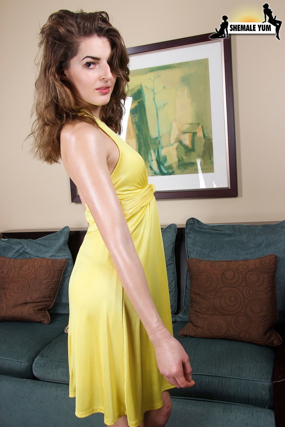vixxen goddess ruined in yummy yellow skirt