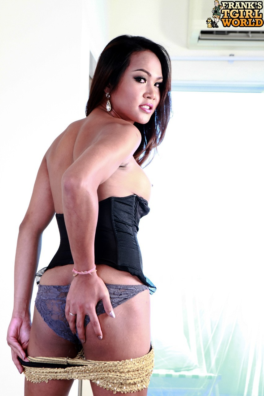 wan tranny in racy corset and shorts