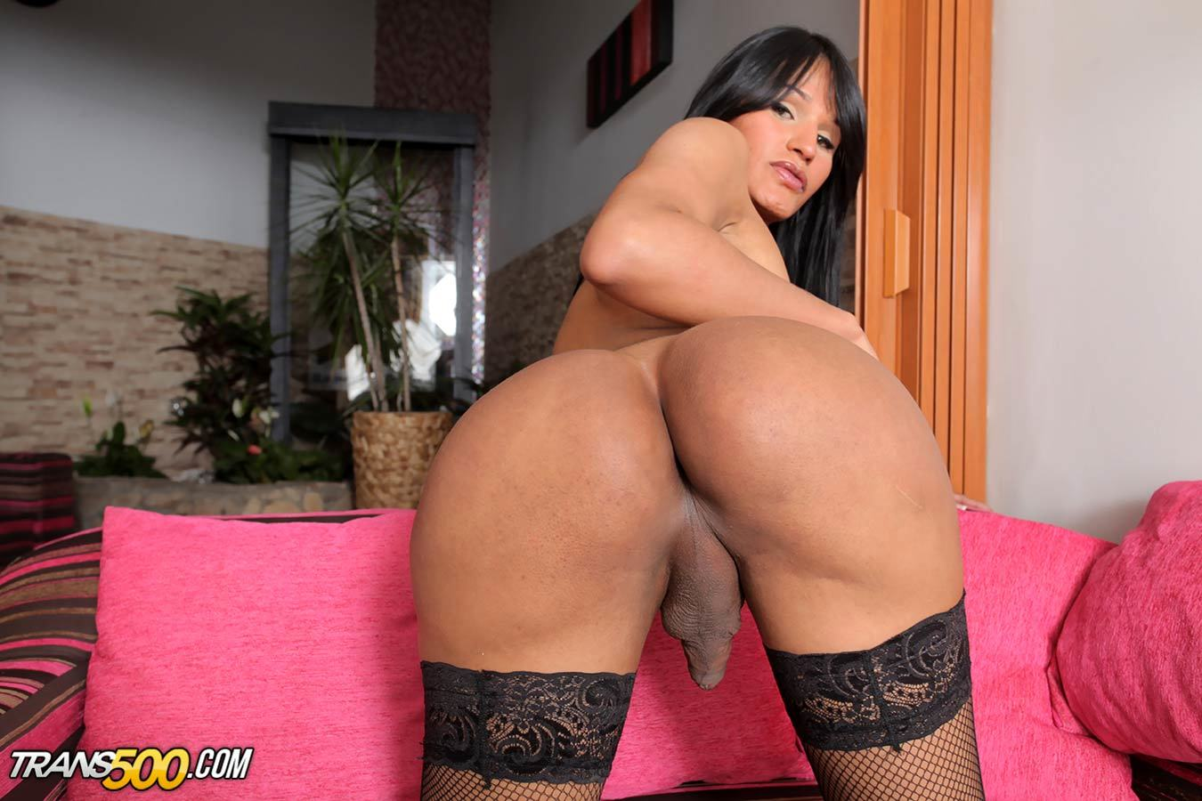 Watch The Titillating Colombian Transsexual Vernica Xxx Go At It In Her Solo Masturbation Scene
